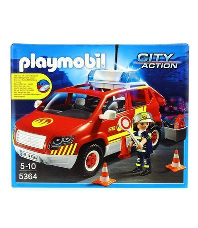 Playmobil-Voiture-de-Pompiers-avec-Son-et-Lumiere