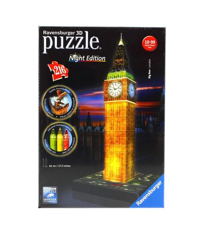 Puzzle-Big-Ben-Night-3D