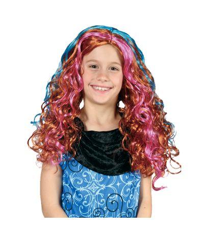 Multicolor-Les-enfants-longue-perruque-bouclee