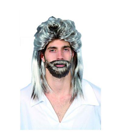 Perruque-Cheveux-et-Barbe-Blanchie