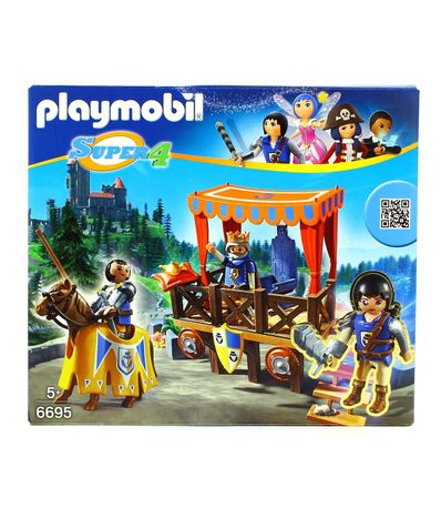 Playmobil-Super4-Tribune-royale-avec-Alex