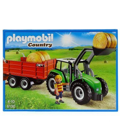 Playmobil-Tracteur-avec-pelle-et-remorque