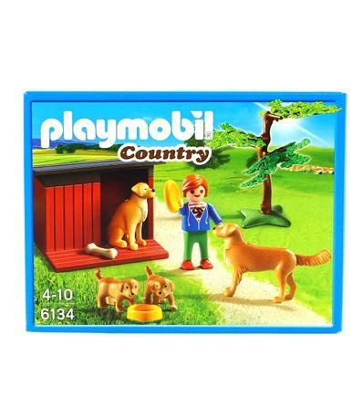 Playmobil-Enfant-avec-famille-de-golden-retrievers