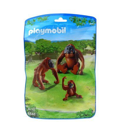 Playmobil-Deux-orangs-outangs-avec-bebe