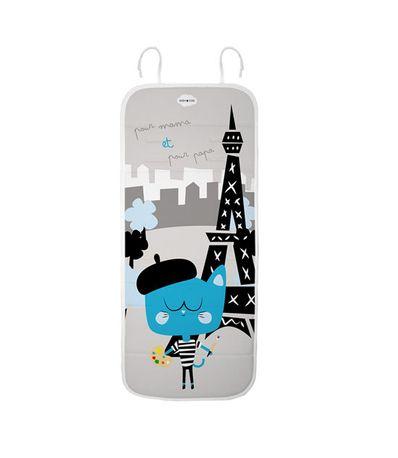 Tapis-pour-poussette-Paris-Chat-Bleu