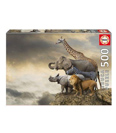 Puzzle-500-Pieces-Animaux-Au-Bord-de-la-Falaise