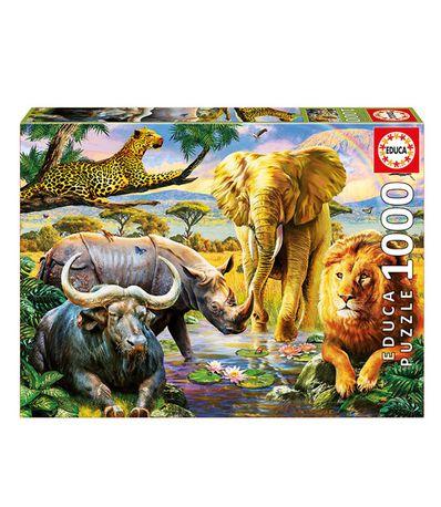 Puzzle-1000-Les-Cinq-Grands-Mammiferes