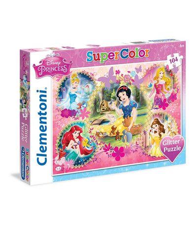 Princesses-Paillettes-Puzzle-de-104-Pieces