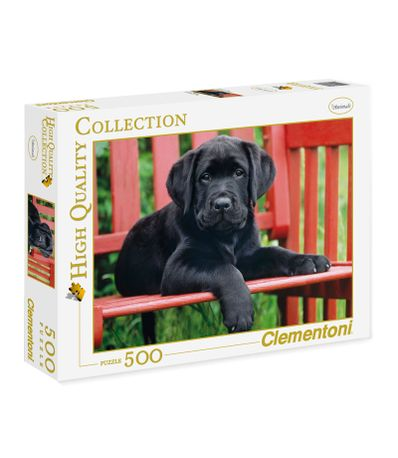 Puzzle-Bebe-Labrador-Noir-de-500-Pieces