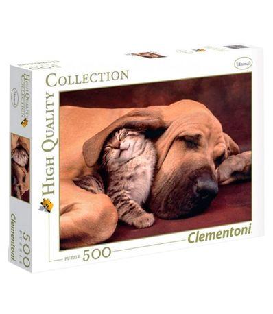 Calins-Animaux-de-compagnie-Puzzle-500-pieces