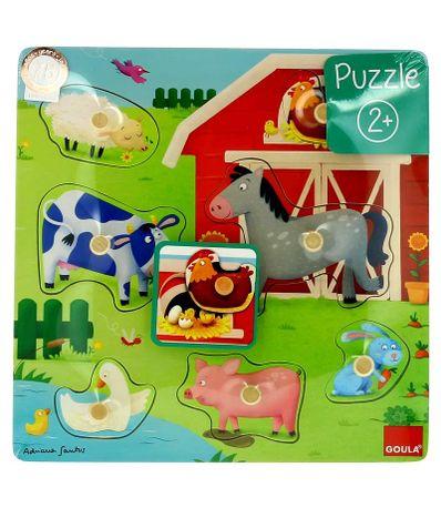 Puzzle-maman-et-ses-petits-a-la-ferme