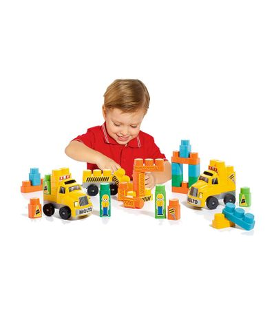 Blocs-Construction-Camion-avec-Remorque
