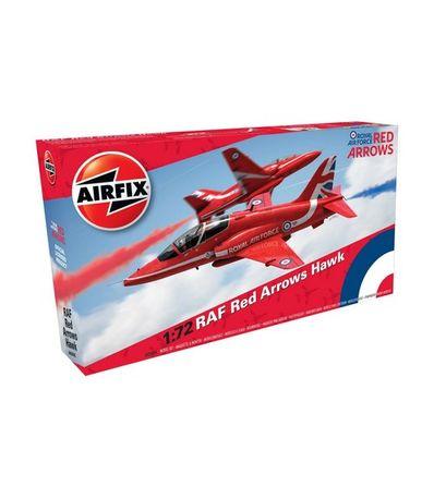 Maquette-avion-RAF-Red-Arrows-Hawk-Echelle-1-72