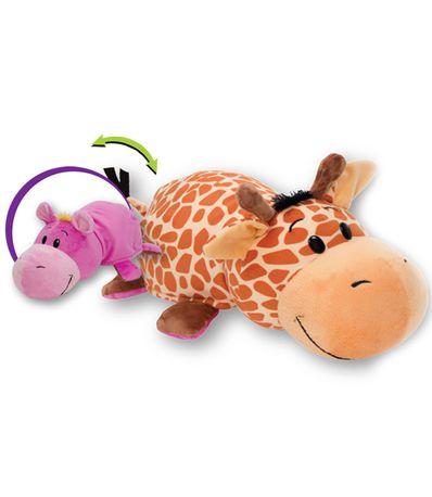 Flipazoo-girafe-en-peluche-transformables-Un-hippopotame