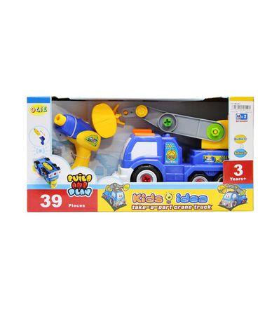 Camion-Construction-Bleu