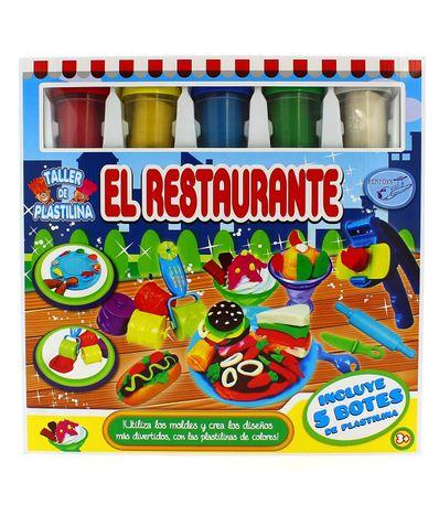 Pate-a-modeler-Nourritures-avec-5-Pots