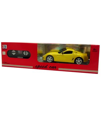 Voiture-RC-Speed-Car-Jaune-Echelle-1-24