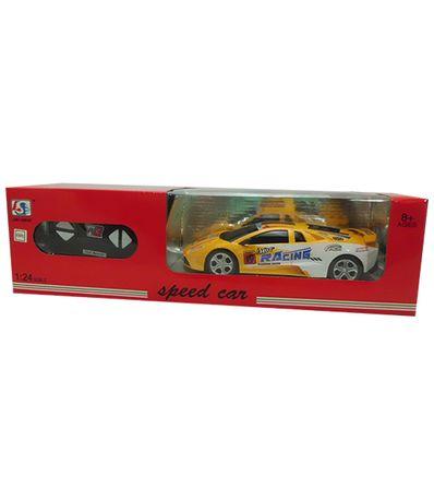 Voiture-RC-Speed-Car-Jaune-Blanc-Echelle-1-24