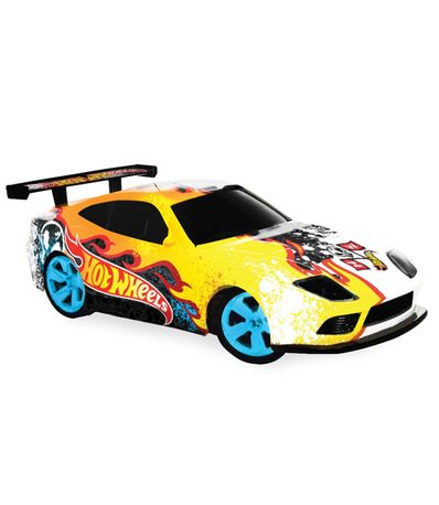 Voiture-RC-Hot-Wheels-Blanc-Jaune-Echelle-1-32