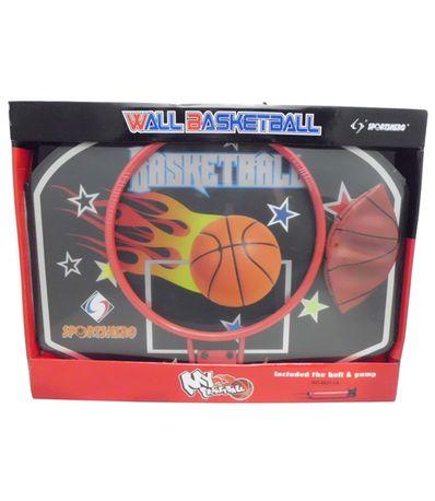 Panier-de-Basket-flammes---Ballon