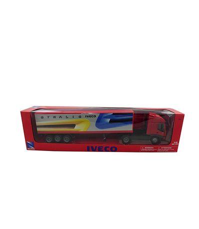 Camion-miniature-Iveco-Rouge-Echelle-1-43