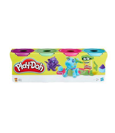 Play-Doh-Pack-Violet-Vert-Rose-et-Bleu