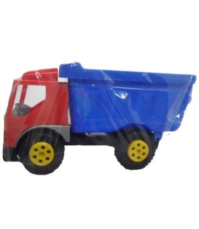 Rouge-et-bleu-camion-a-benne-basculante