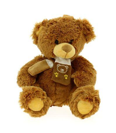 Ours-en-peluche-avec-foulard-brun-clair-33cm