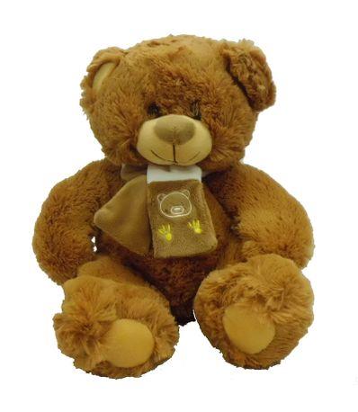 Ours-en-peluche-avec-foulard-brun-fonce-33cm