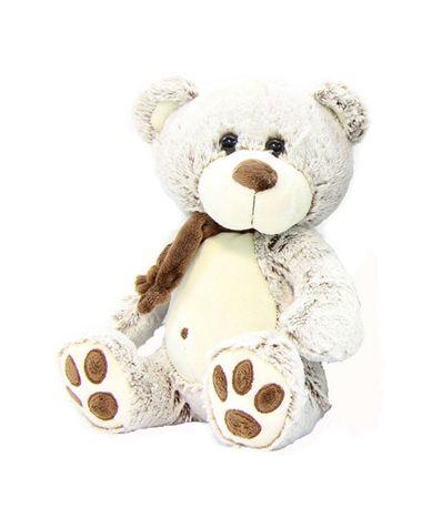 Peluche-Ourson-avec-echarpe-marron-clair-30-cm