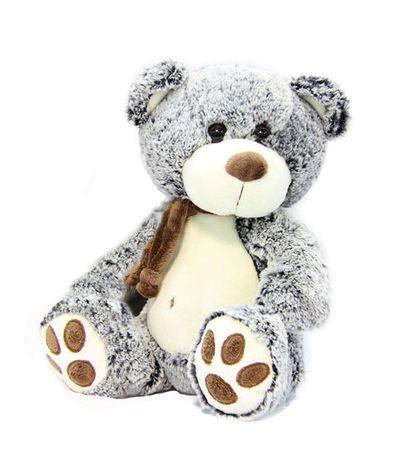 Ours-en-peluche-avec-foulard-brun-fonce-30-cm