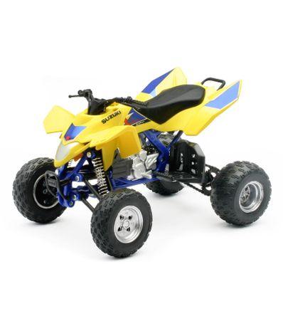 ATV-Miniature-Suzuki-jaune-Echelle-1-12