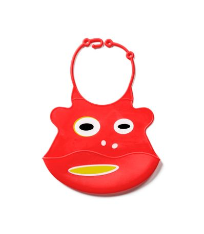 Bavoir-Silicone-Rouge