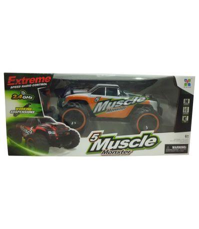 Voiture-RC-Monster-Muscle-Orange-Echelle-1-14