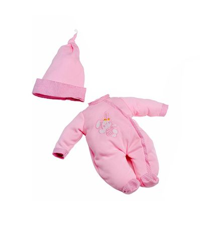 Rose-Pyjama-Vetements-de-bebe-lapin