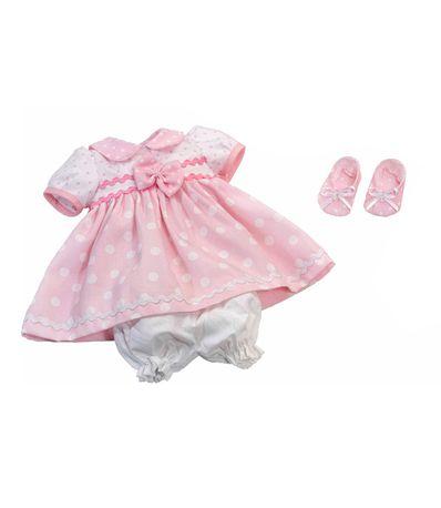Fille-Vetements-40cm-pois-Robe-rose