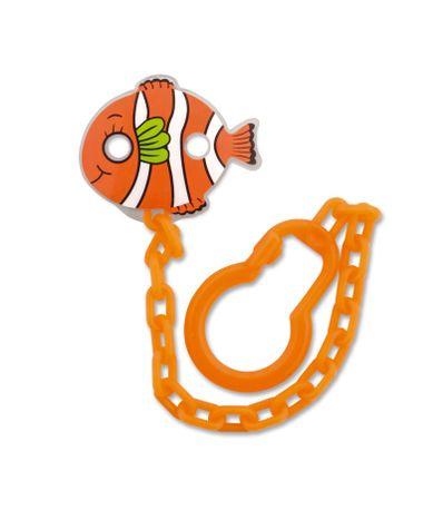 Chainette-attache-sucette-Poisson-orange