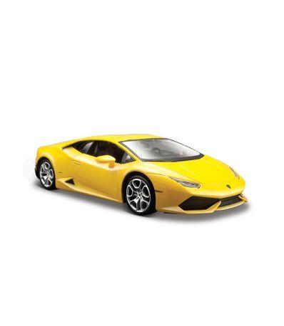Voiture-miniature-Lamborghini-Jaune-Echelle-1-24
