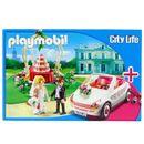 Playmobil-Set-Couple-de-maries-avec-voiture
