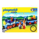 Playmobil-123-Train-avec-passagers-et-rails