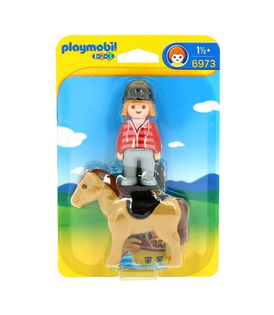 Playmobil-123-Jockey-et-cheval