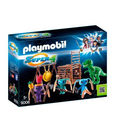 Playmobil-Tribu-d-Alien-avec-bebe-tyrannosaure