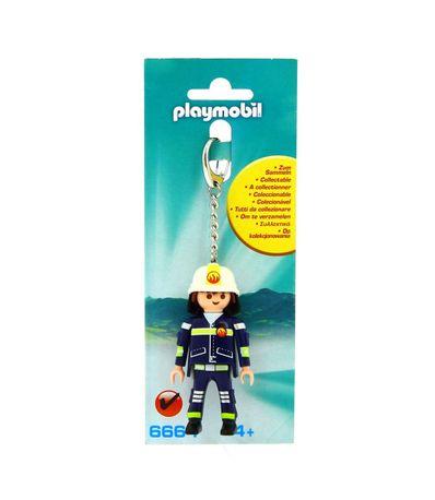 Playmobil-Porte-cles-Pompier
