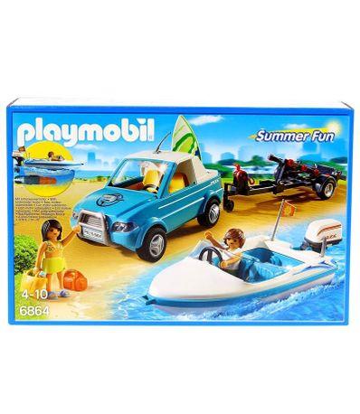 Playmobil-Pick-Up-avec-Bateau-a-Moteur