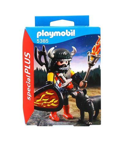 Playmobil-Special-Plus-Guerrier-avec-loup