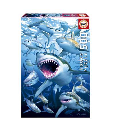 Puzzle-500-Pieces-Requins