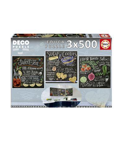 Puzzle-3x500-Recettes-sur-Ardoise