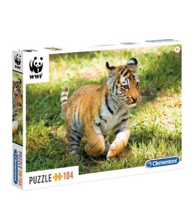 Puzzle-WWF-Bebe-Tigre-de-104-Pieces