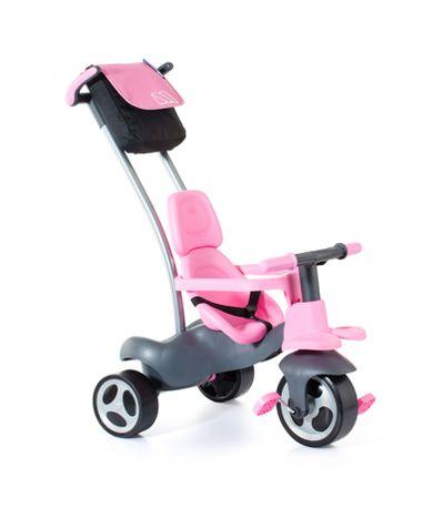 Tricycle-Rose-avec-Roues-en-Gomme