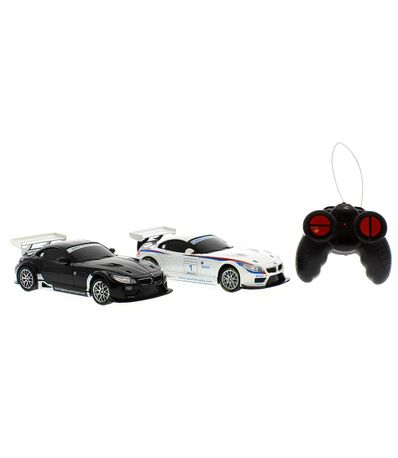 Set-2-voitures-R-C-BMW-Z4-GT3-Echelle-1-24